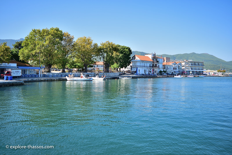 The city of Limenas in Thassos